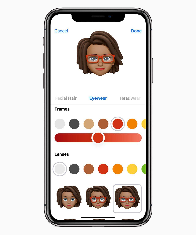 iOS 12推出全新的Memoji功能,可製作個性化動態表情。圖/Apple提供