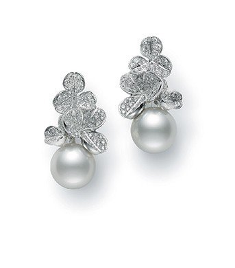 MIKIMOTO Fortune Leaves Collection南洋珍珠鑽石...