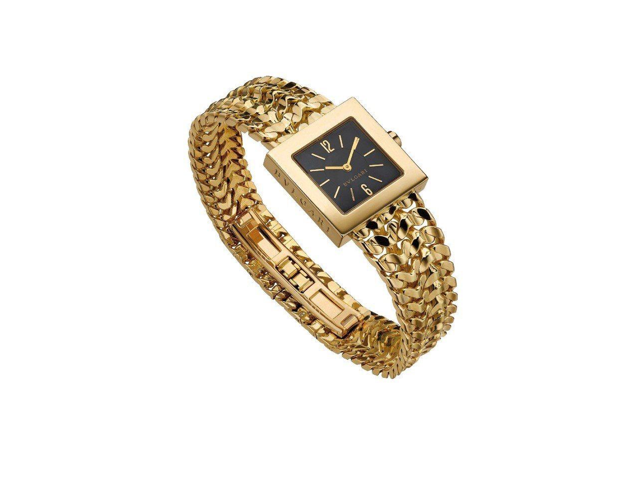 BVLGARI Hertaige典藏系列黃K金腕錶,於西元1990年創作(MUS...
