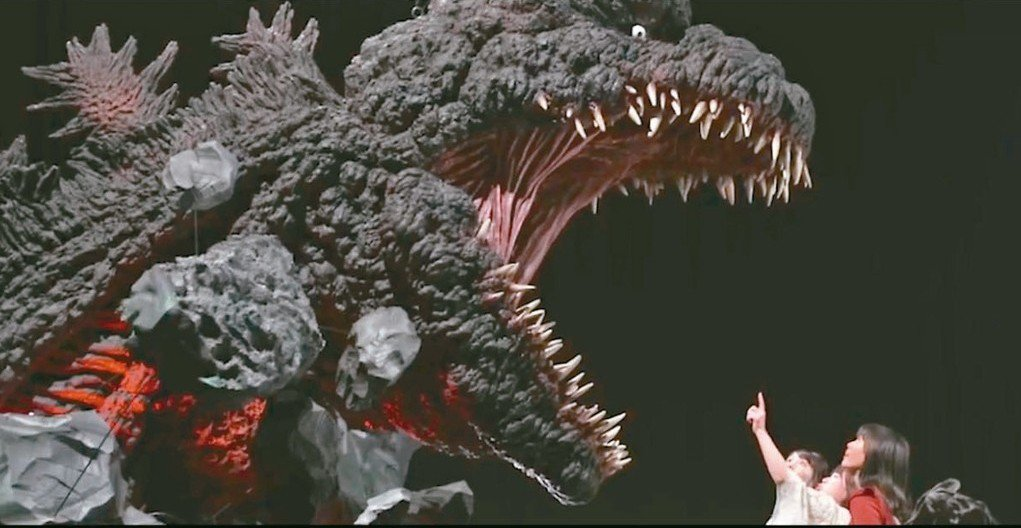 「怪獸之王 哥吉拉特展」即將開幕,場內最巨大的哥吉拉模型高度約四米。  圖/聯合...