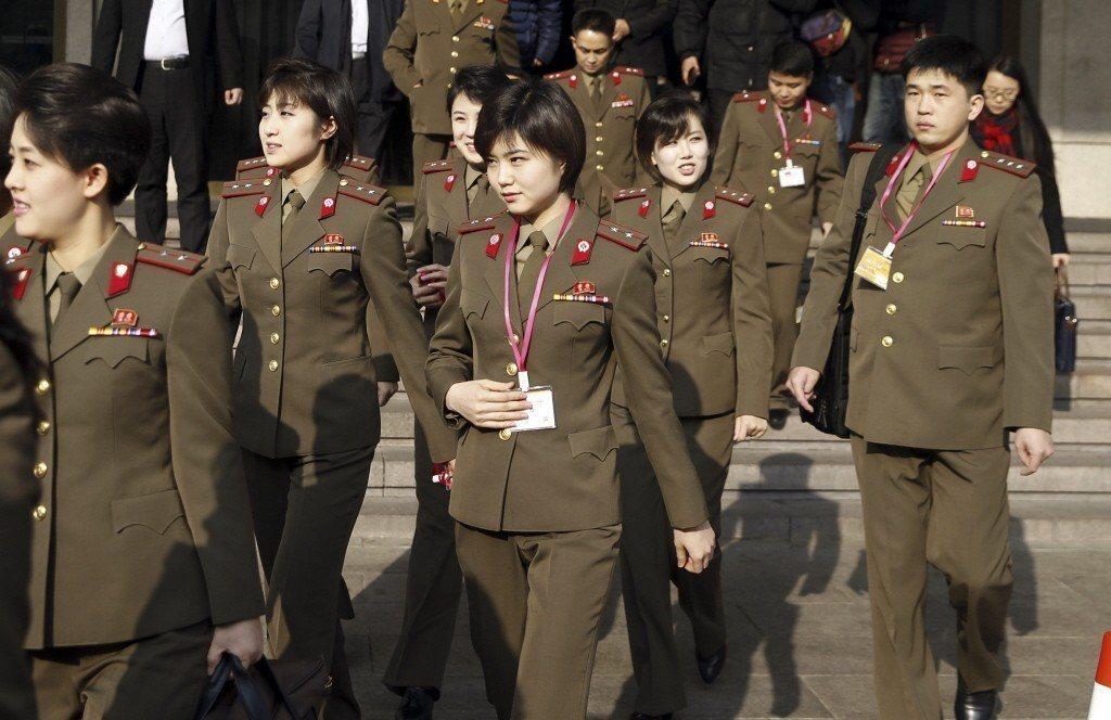 北韓國寶級牡丹峰樂團。 (美聯社)