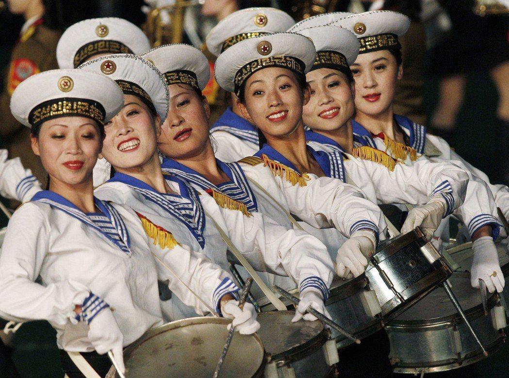 2010年阿里郎大會操有女子鼓隊表演。 (美聯社)