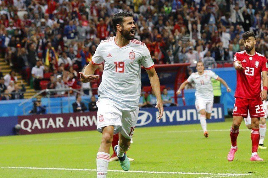 科斯塔(Diego Costa)蒙受幸運女神眷顧,在下半場54分鐘攻破伊朗的「鐵...