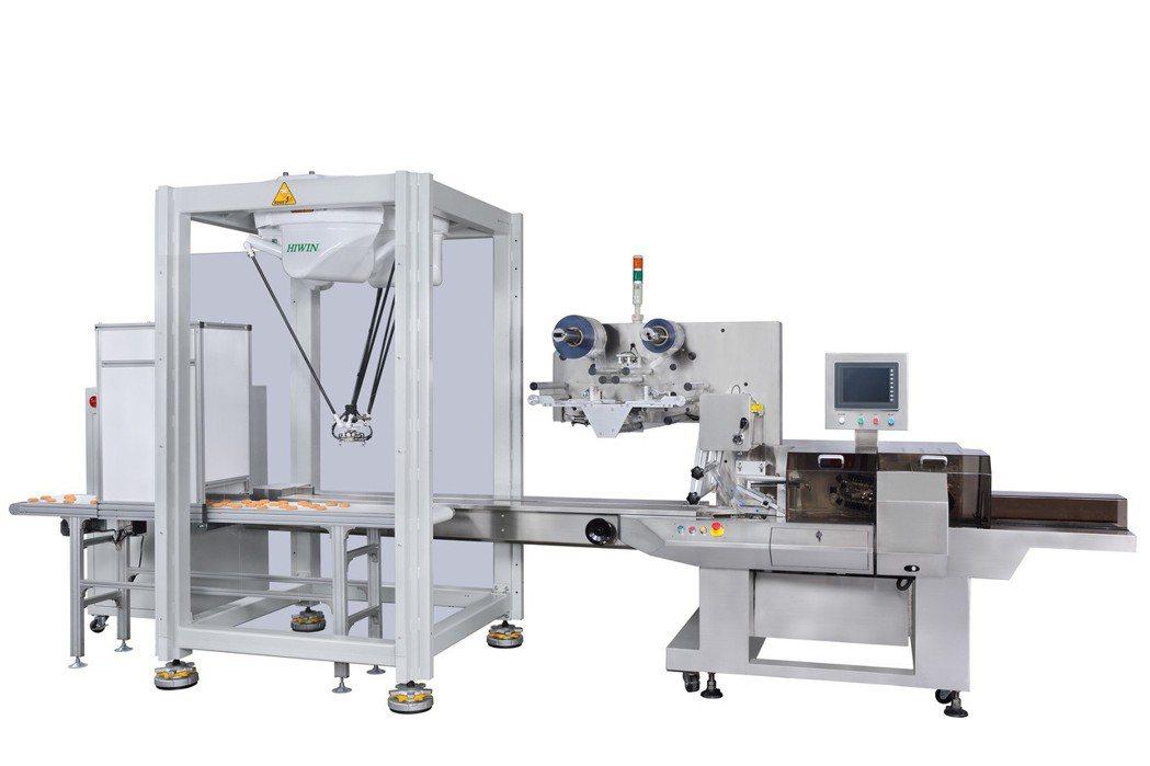 虹興包裝機搭配機械手臂與CCD影像感應器,毎分鐘速度可達150包/分。 業者/提...