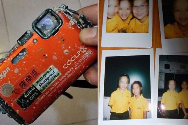 香港一名網友在西貢拾獲潛水相機。圖片來源/橙新聞