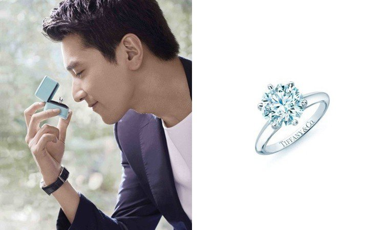 Tiffany Setting 鉑金六爪鑲嵌鑽戒是品牌經典中的經典。圖/Tiff...