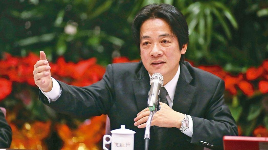 前台南市長賴清德名言是做功德 圖片來源/聯合報系