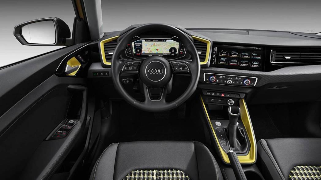 內裝配置與全新A6有異曲同工之妙,虛擬儀表更是下放至A1。 摘自Audi