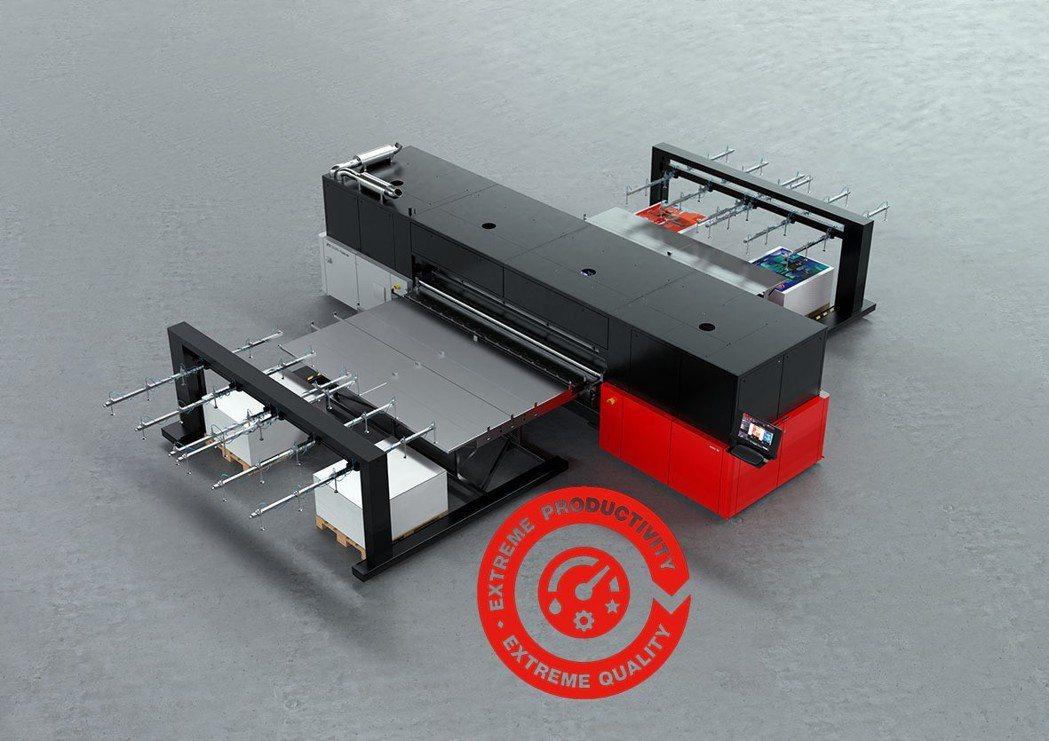 愛克發最新的高階UV噴墨設備Jeti Tuaro H3300 LED,幅寬達3....