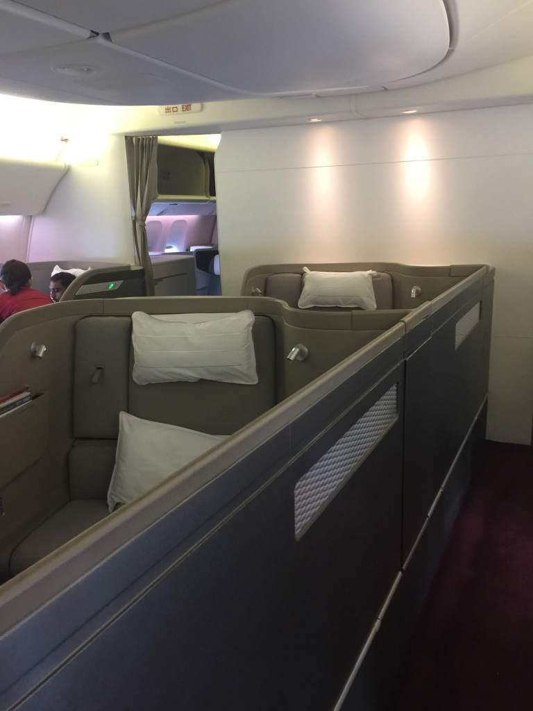 採用1-1-1配置的頭等艙座位。圖/自TripPlus