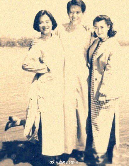張曼玉(右起)、秦漢、林青霞。圖/摘自微博