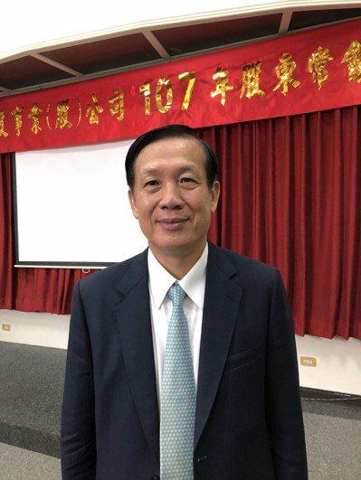鄉林建設董事長賴正鎰今(21)日出席股東常會。 記者宋健生/攝影