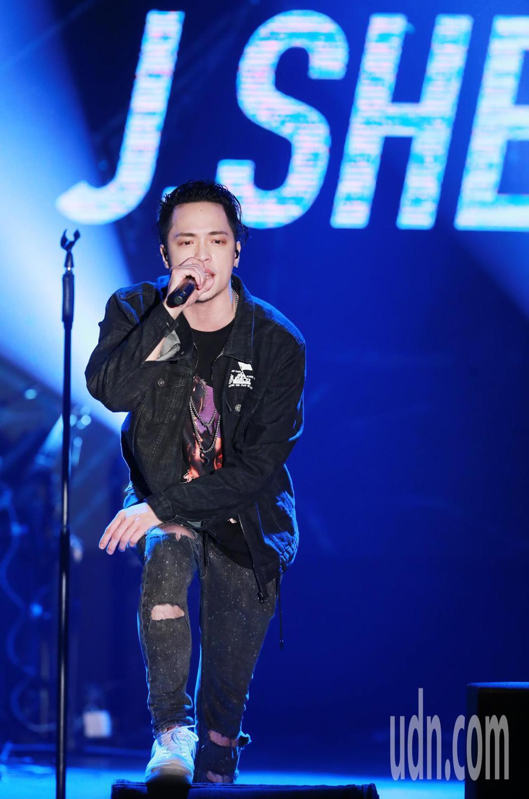 J.Sheon今晚在「金曲售票演唱會」中開唱。記者徐兆玄/攝影