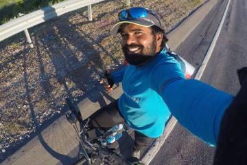 追星梅西長征4500公里 印度男騎單車赴俄