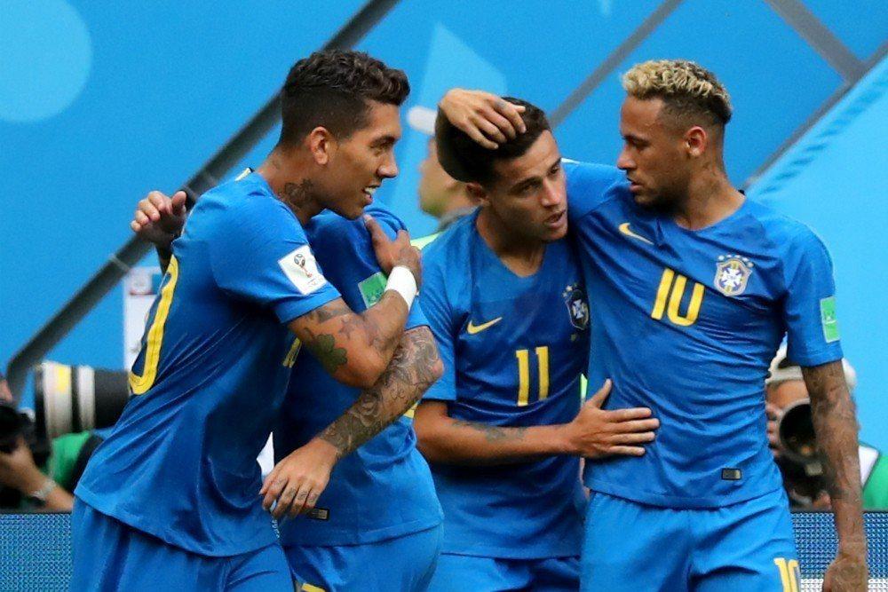 巴西在傷停補時階段才靠著庫蒂尼奧與內碼爾連進兩球,苦勝哥斯大黎加。 歐新社