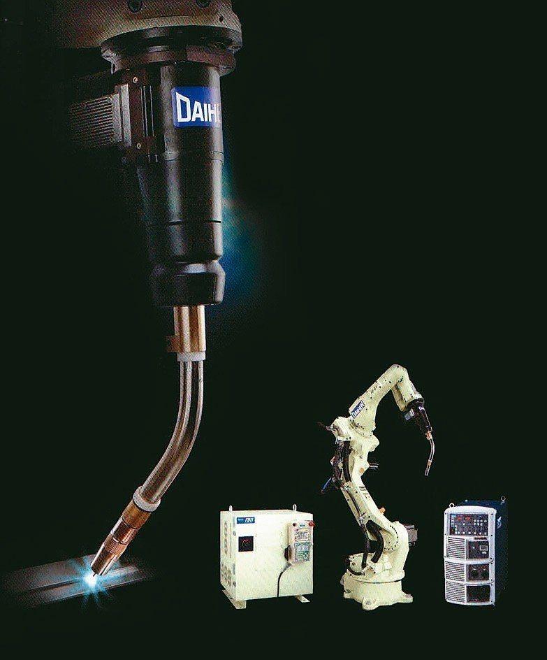 峻易引進日本OTC焊接機器人。 峻易公司/提供