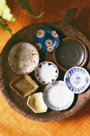 日本的小器皿有很多造型變化。 圖/徐銘志