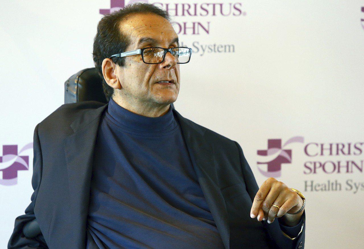 美國保守派巨擘柯翰默(Charles Krauthammer)今天過世,享壽68...
