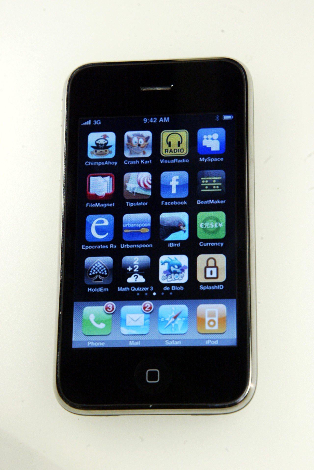iPhone 3GS外觀照。報系資料照