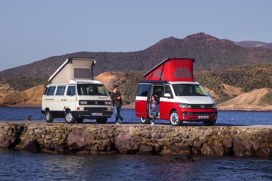 福斯商旅Transporter車系除廂車外,獨特的露營車也是熱銷車款之一。 圖/福斯商旅提供