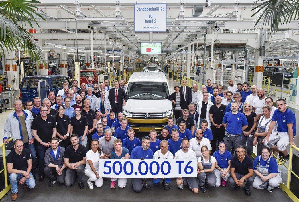 福斯商旅第六世代廂車T6,於2015年問世以來僅3年時間,就達到生產50萬輛的規模。 圖/福斯商旅提供