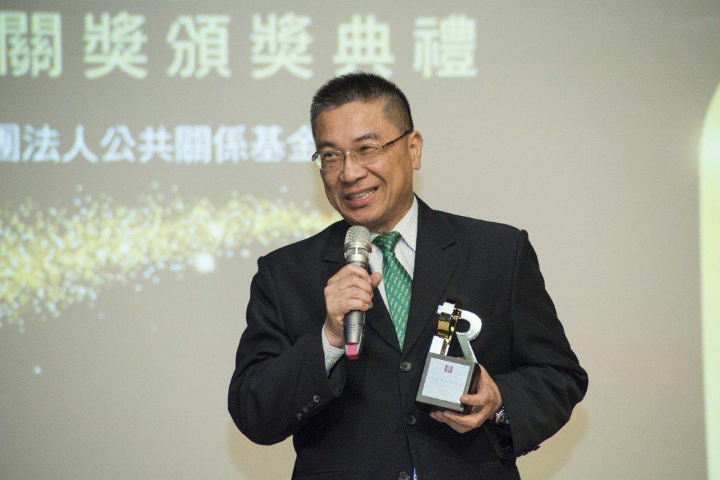 圖為行政院發言人徐國勇日前獲傑出發言人獎。圖/中華民國公共關係基金會提供