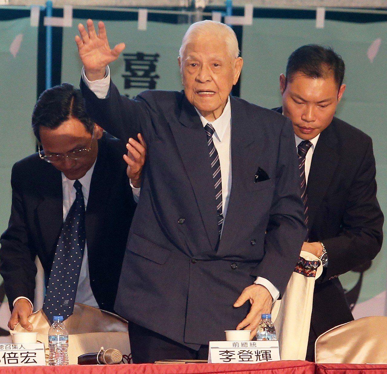 前總統李登輝。聯合報系資料照/記者劉學聖攝影