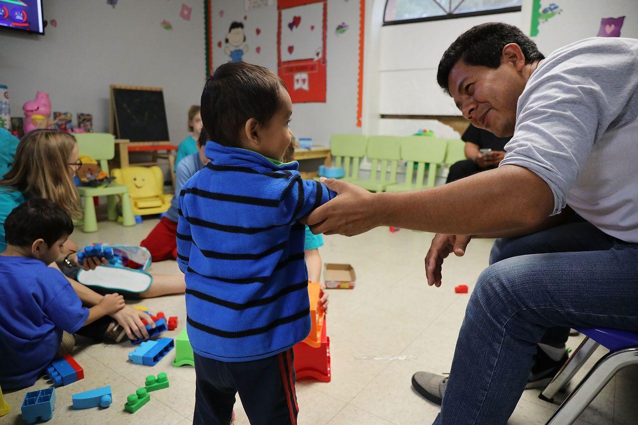 美國德州一處移民孩童收容中心。法新社