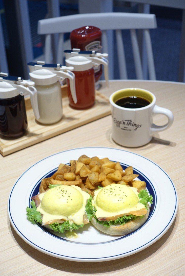 Eggs'n Things 燻鮭酪梨班尼迪克蛋,搭上日本原裝濃郁荷蘭醬,售價39...