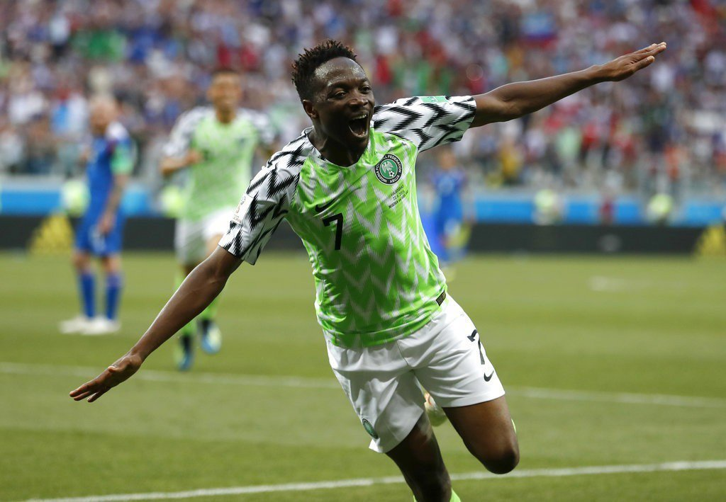 奈及利亞穆沙對冰島梅開二度取勝,發豪語表示對阿根廷有信心再進球。 美聯社