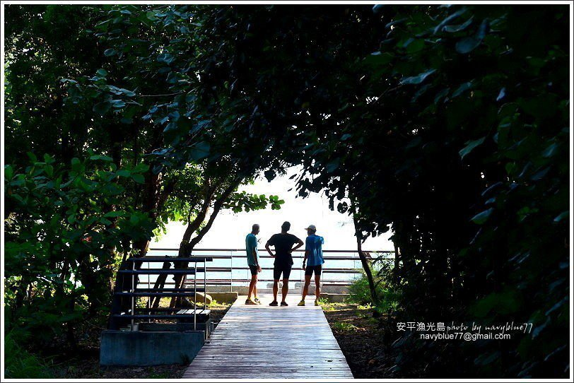 ↑到漁光島有多個入口可以通往海灘。