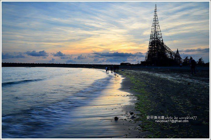 ↑漁光夕照已經是台南市的新興美景。
