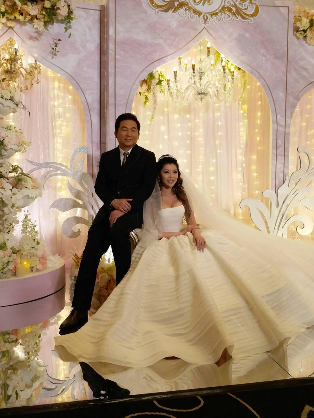 殷琦嫁10億身家老公張仕育。記者陳慧貞/攝影