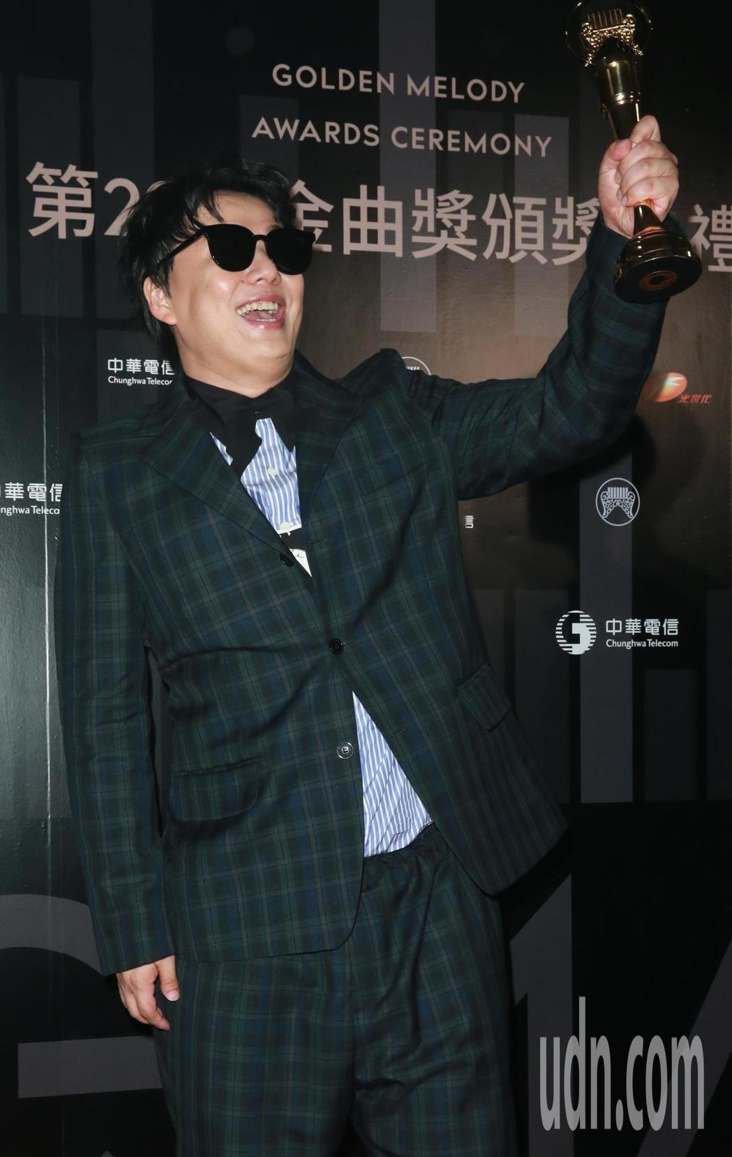 最佳台語男歌手蕭煌奇。記者徐兆玄/攝影