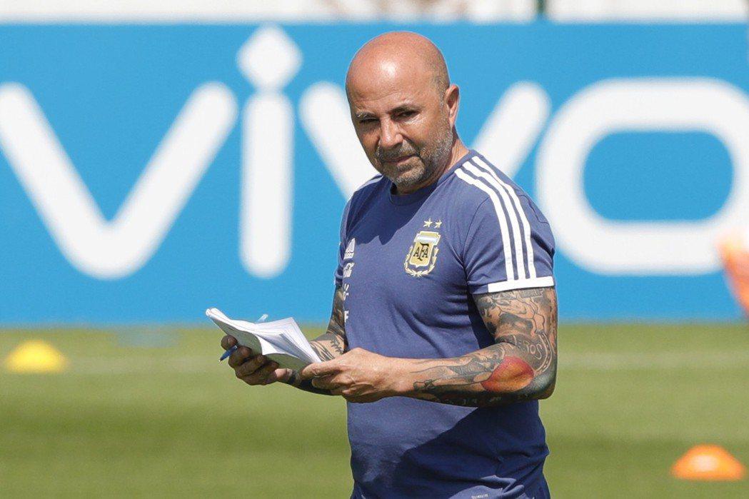 阿根廷總教練森保利。 美聯社