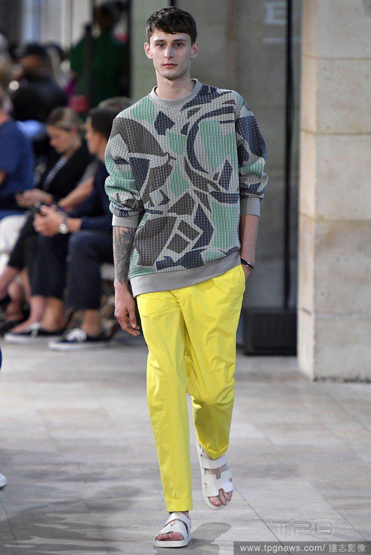帶有運動感的設計和造型仍是Hermès這一季的重點概念。圖/達志影像