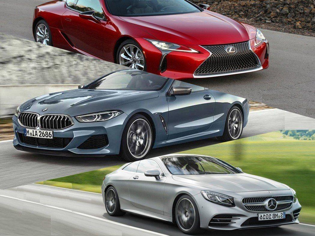 摘自Mercedes、BMW、LEXUS