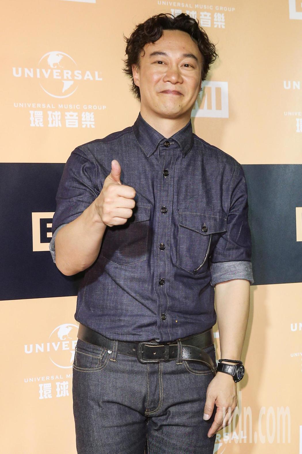陳奕迅在金曲獎第三度封王,典禮後出席環球音樂慶功宴。記者林伯東/攝影