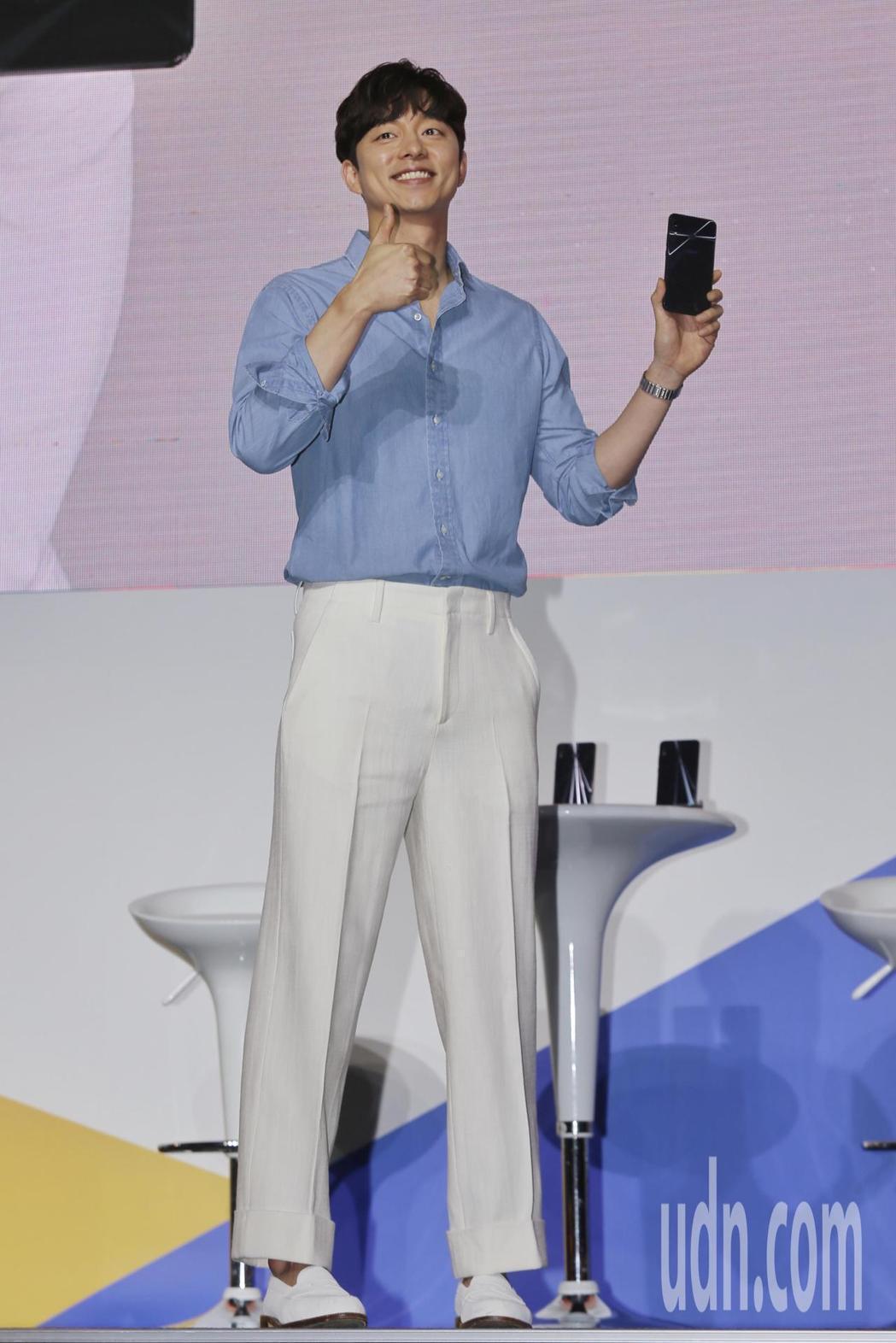 孔劉今出席代言活動。記者林伯東/攝影
