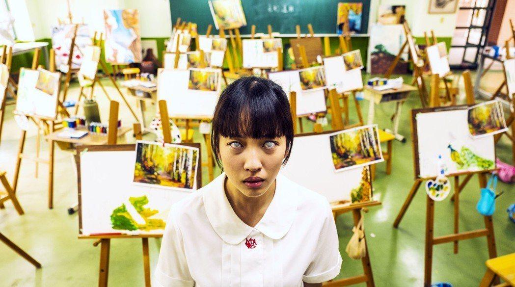 王渝萱演出和孔雀魔鬼交易的高中生。圖/公視提供