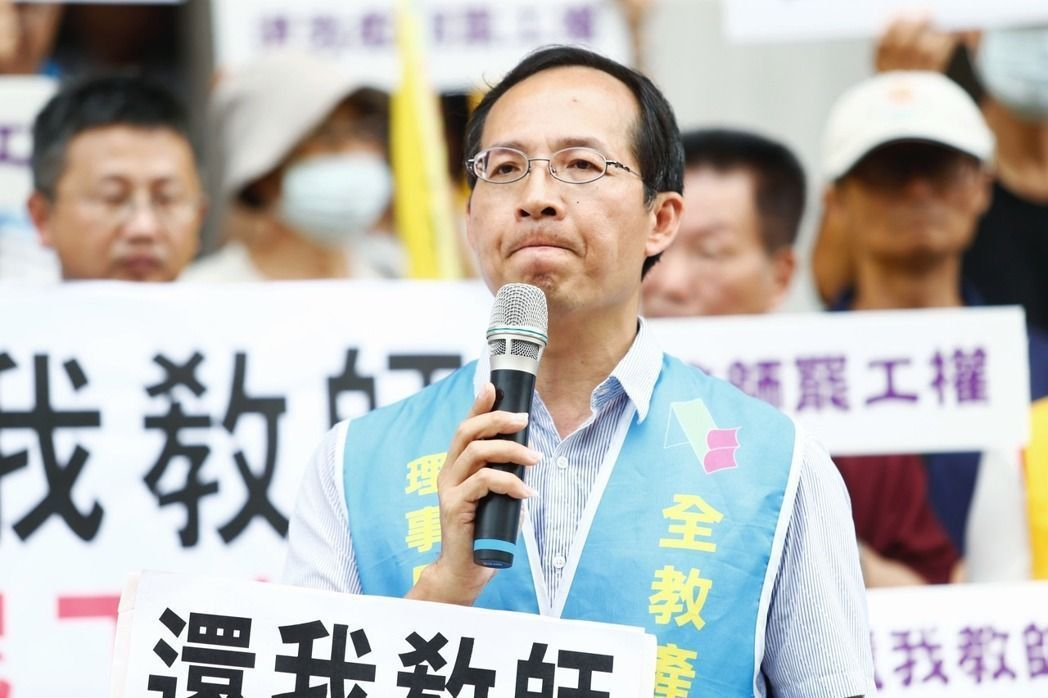 圖中為全教產理事長黃耀南。 圖/聯合報系資料照片