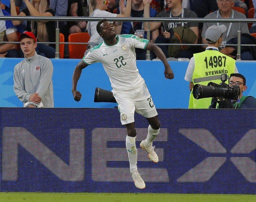 塞內加爾韋格踢進球隊第二球。美聯社