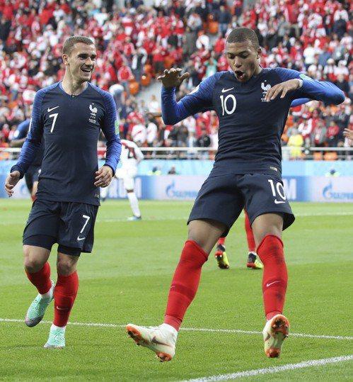 法國隊。 美聯社