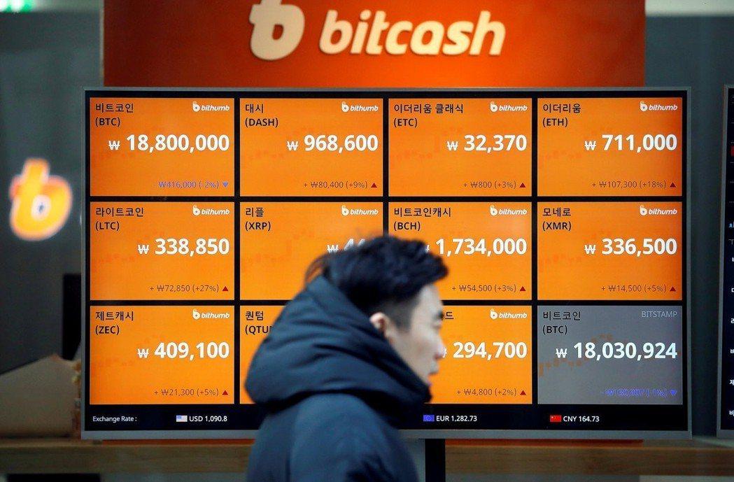 虛擬貨幣是近年來興起的金融商品。圖為首爾一處虛擬貨幣交易所。(路透資料照片)