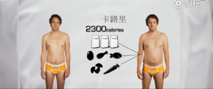Gameau實驗中的熱量攝取,和先前一樣都是每日2300大卡,最大的不同在於卡路...