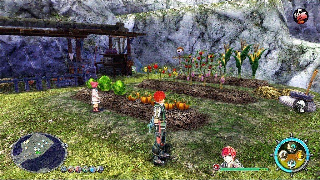 遊戲中也有農場設施,可以種植蔬菜等作物,收成的作物也是食材來源。