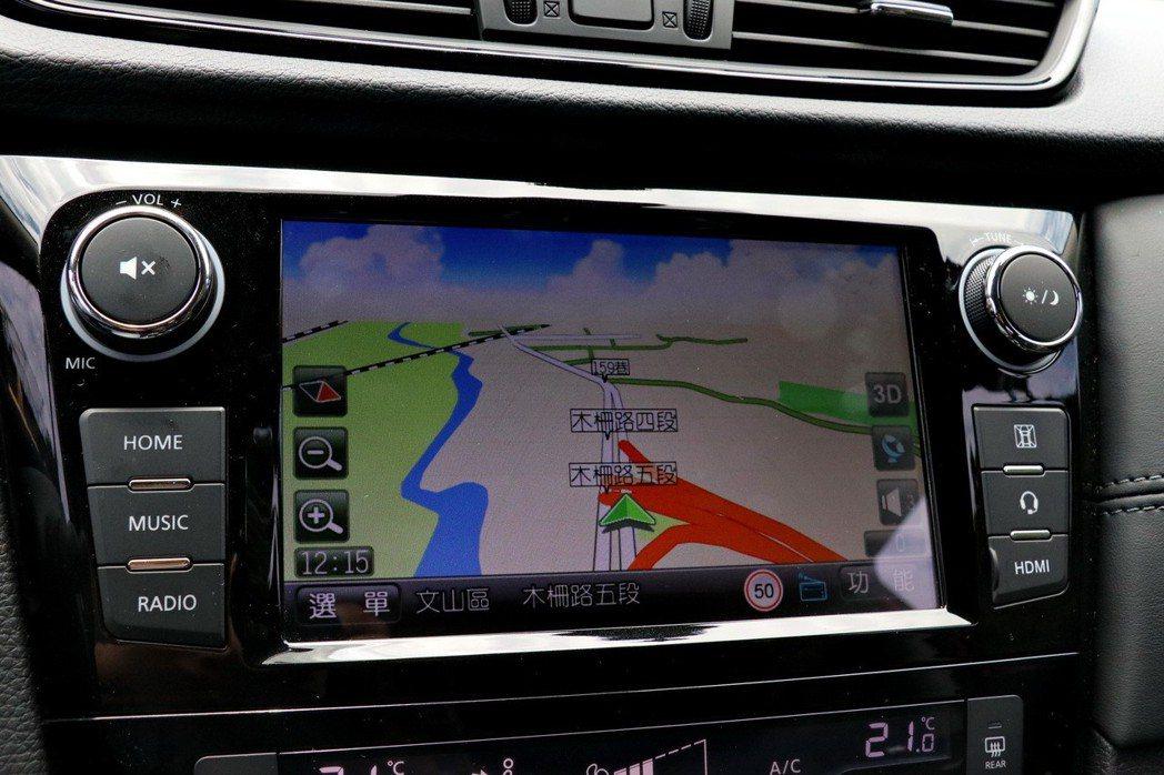X-Media影音多媒體系統可選配衛星導航。 記者陳威任/攝影