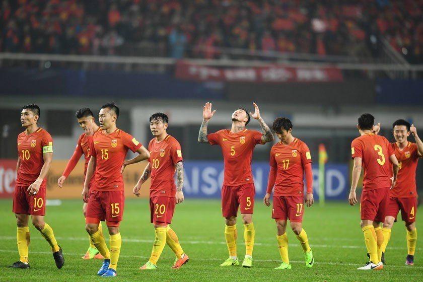 中國隊今年曾在世足資格賽中以1:0打敗南韓,但最後總積分只有12分,只在分區排名...
