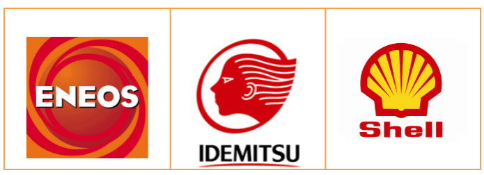 主要連鎖加油站。 圖/ENEOS、IDEMITSU、Shell官網