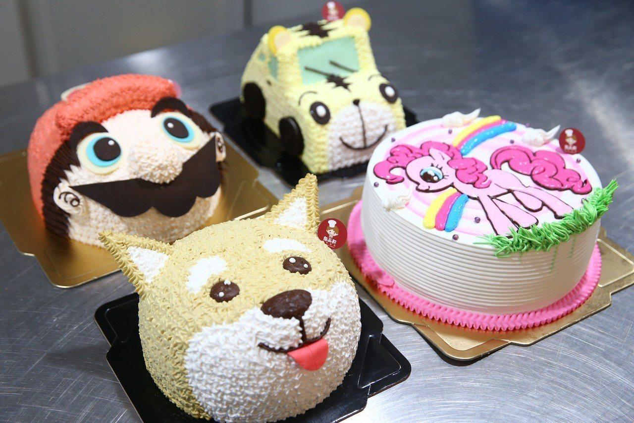 八仙傷友林獻桐擅長製作各式造型蛋糕。記者王騰毅/攝影